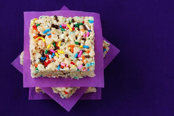 Cake Treats Rice Homemade Krispie Birthday