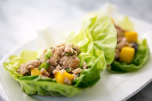 Chicken Mango Lettuce Wraps. Image from www.simplyrecipes.com