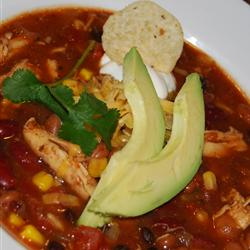 Slow Cooker Chicken Taco Soup. Image from www.allrecipes.com