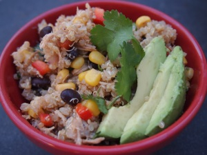 BBQ Chicken Quinoa Salad. Image from www.crackedupkitchen.blogspot.com