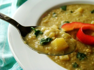 Coconut Curry Apple & Lentil Soup. Image from www.familyfeedbag.com