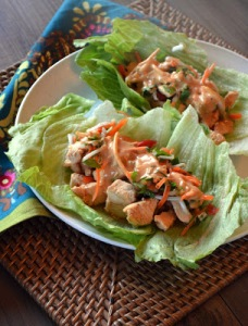 Thai Chicken Lettuce Cups. Image from www.paleogirlskitchen.com