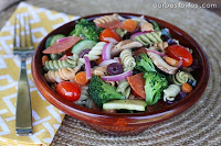Click Picture for Classic Pasta Salad recipe. Image from www.ourbestbites.com