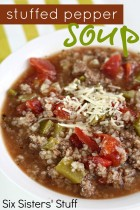 Stuffed Pepper Soup. Image from www.sixsistersstuff.com